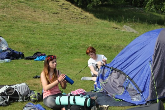 Cross the UK: HTCS Duke of Edinburgh Silver Final Expedition Settling in at Raven Gill Scout Campsite