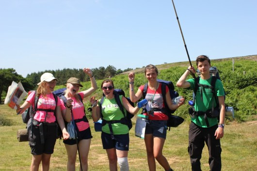 Cross the UK: HTCS Duke of Edinburgh Silver Final Expedition Yellow Tie Celebrate