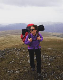Nina leading an expedition on Blencathra