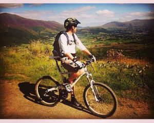 The views from Whinlatter Forest while testing kit