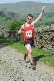 My attempt at a Usain Bolt pose on the Staveley Trail Race