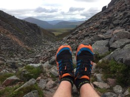 Inov8's struggling on the boulders of Chalamain Gap
