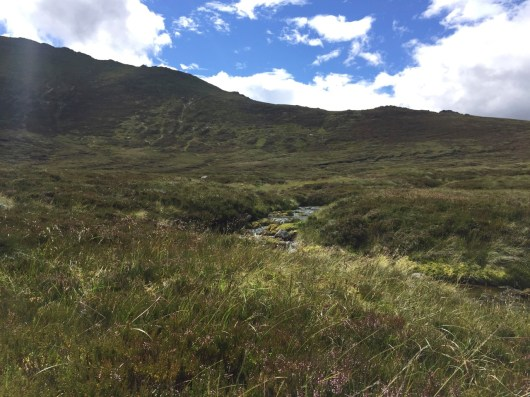 The final part of the day's ascent in the Lairigh an Laoigh
