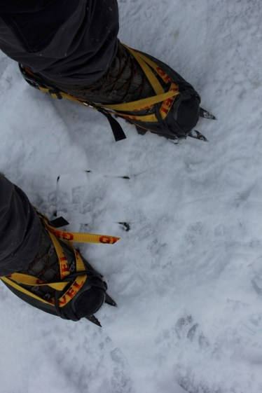 Time for the crampons
