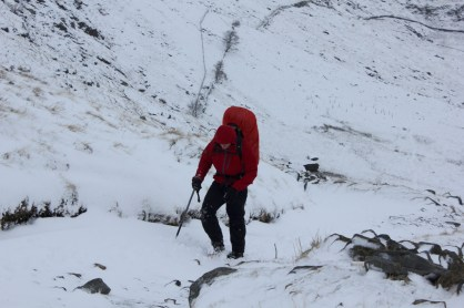 The Gatescarth Pass in winter en route to Mosedale Cottage Bothy