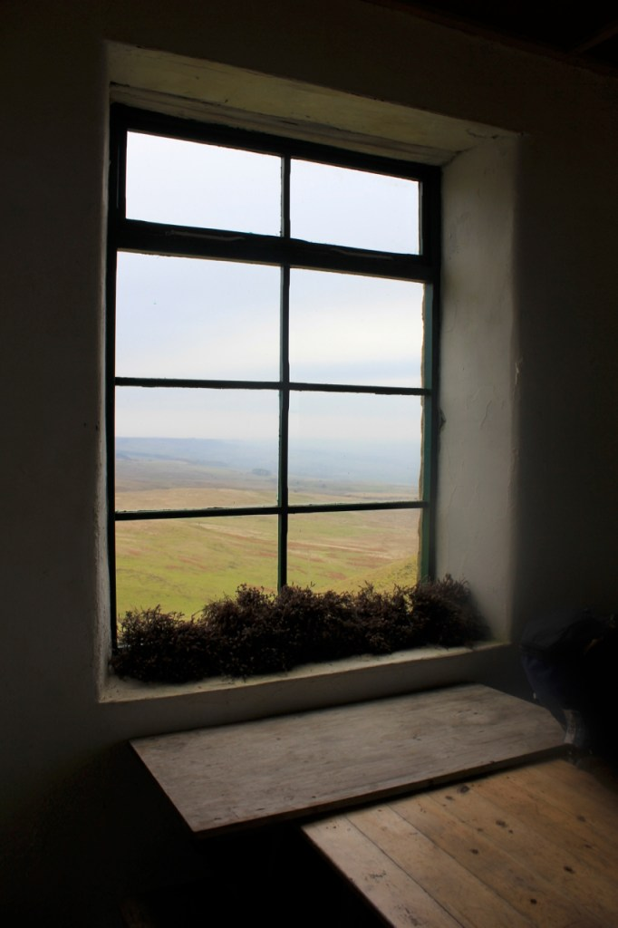 A stunning view from the window of bothy two in the Wensleydale