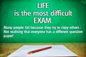 The Test of Life...
