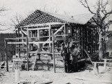 Cabin Under Construction: Framing Cabin Number 6