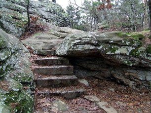 Stairs along the Rock House Cave Trail