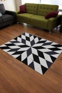 Black & White Star Quilt Top