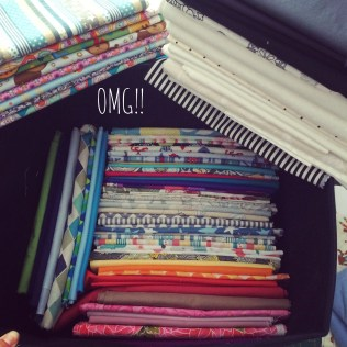All of my fabric stash washed, pressed, folded and organised for new projects!