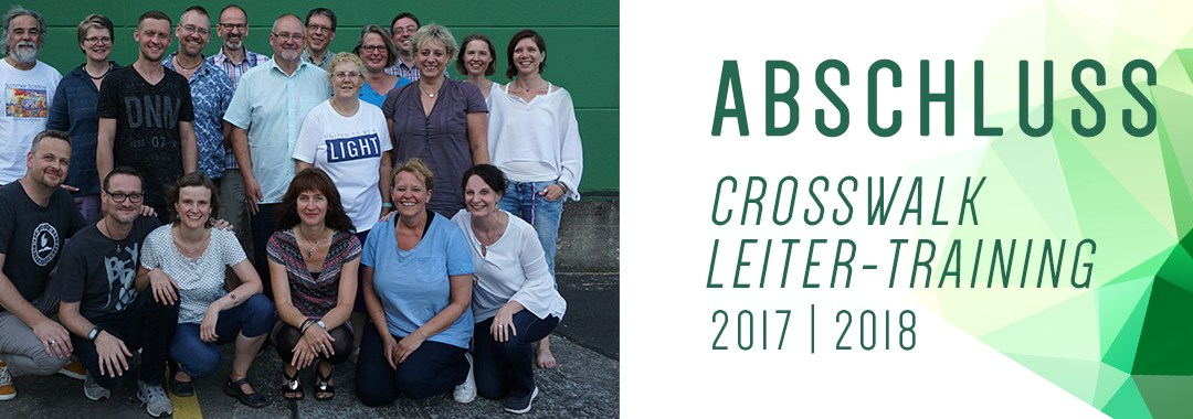 Abschluss CrossWalk-Leitertraining 2017/ 18