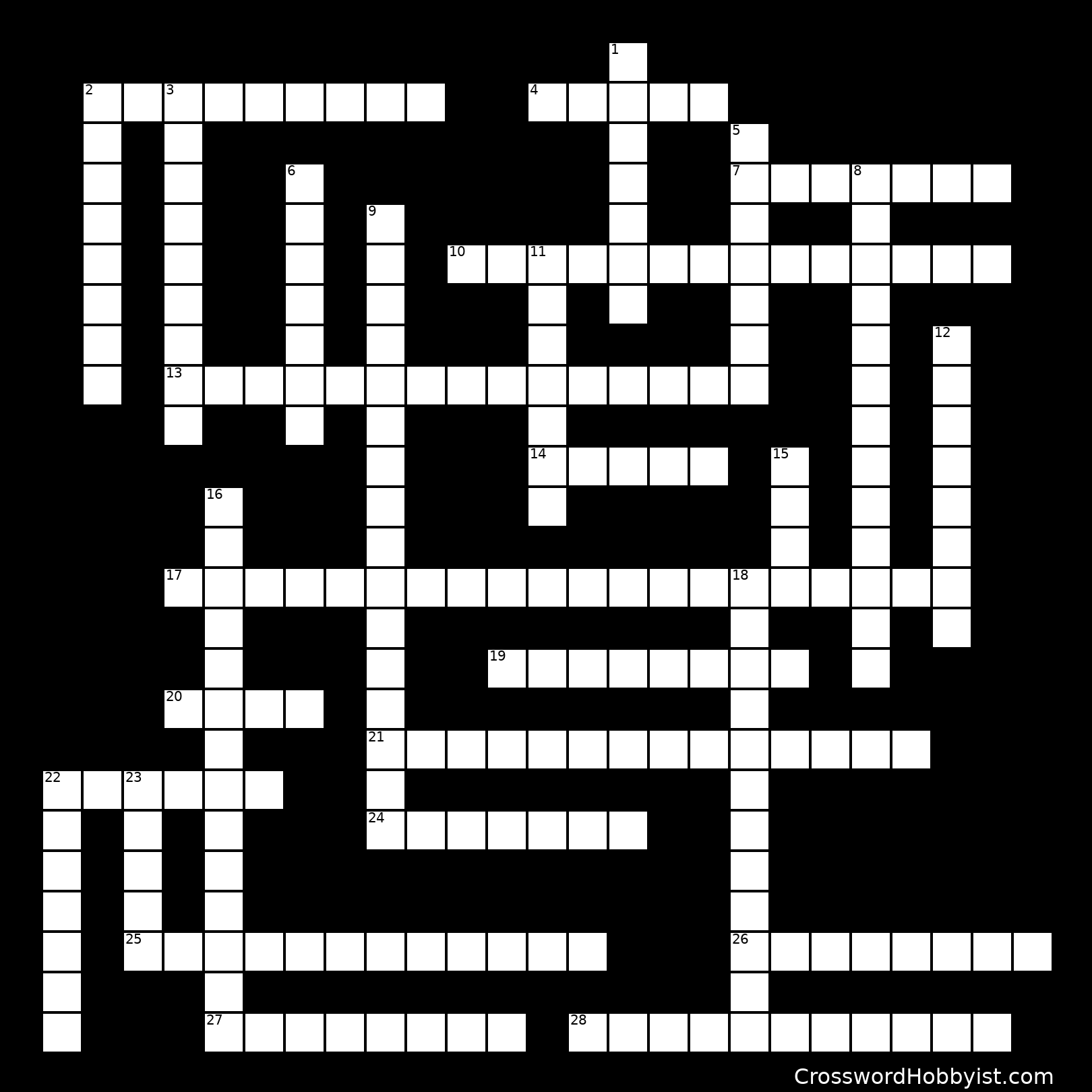 Carbohydrates Crossword