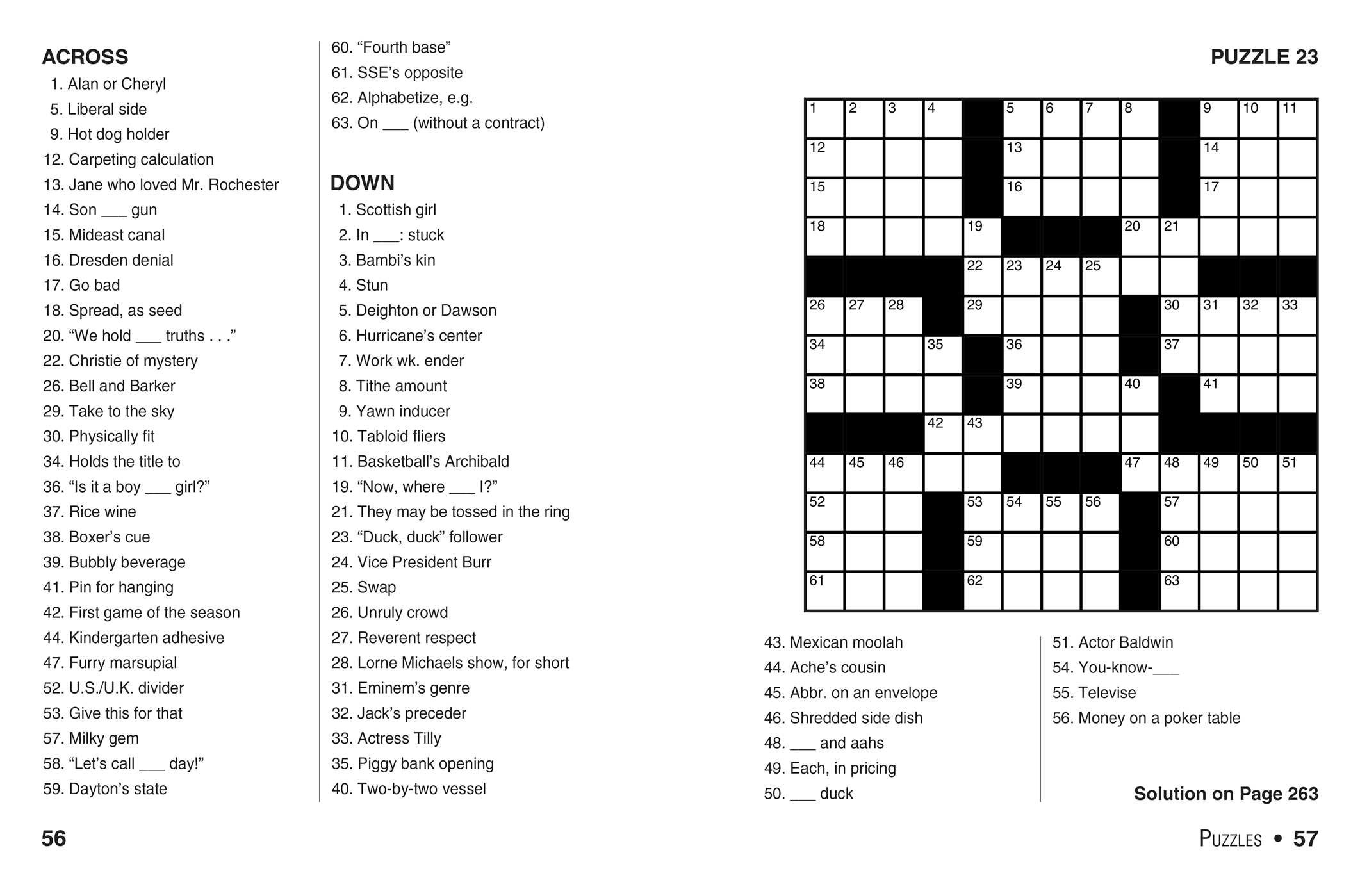 Printable Crossword Puzzles Livewire