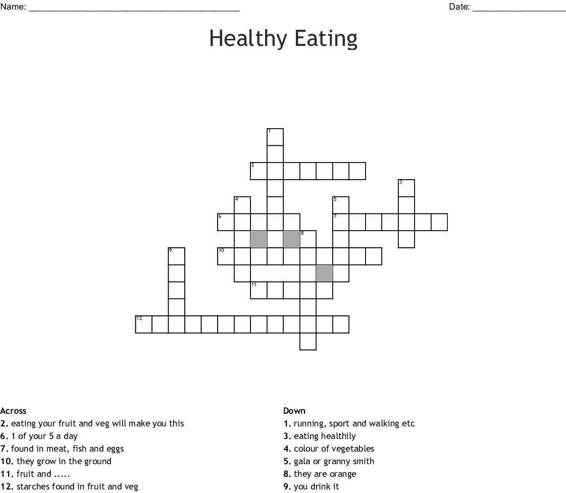 20 Nutrition Worksheets For Middle School