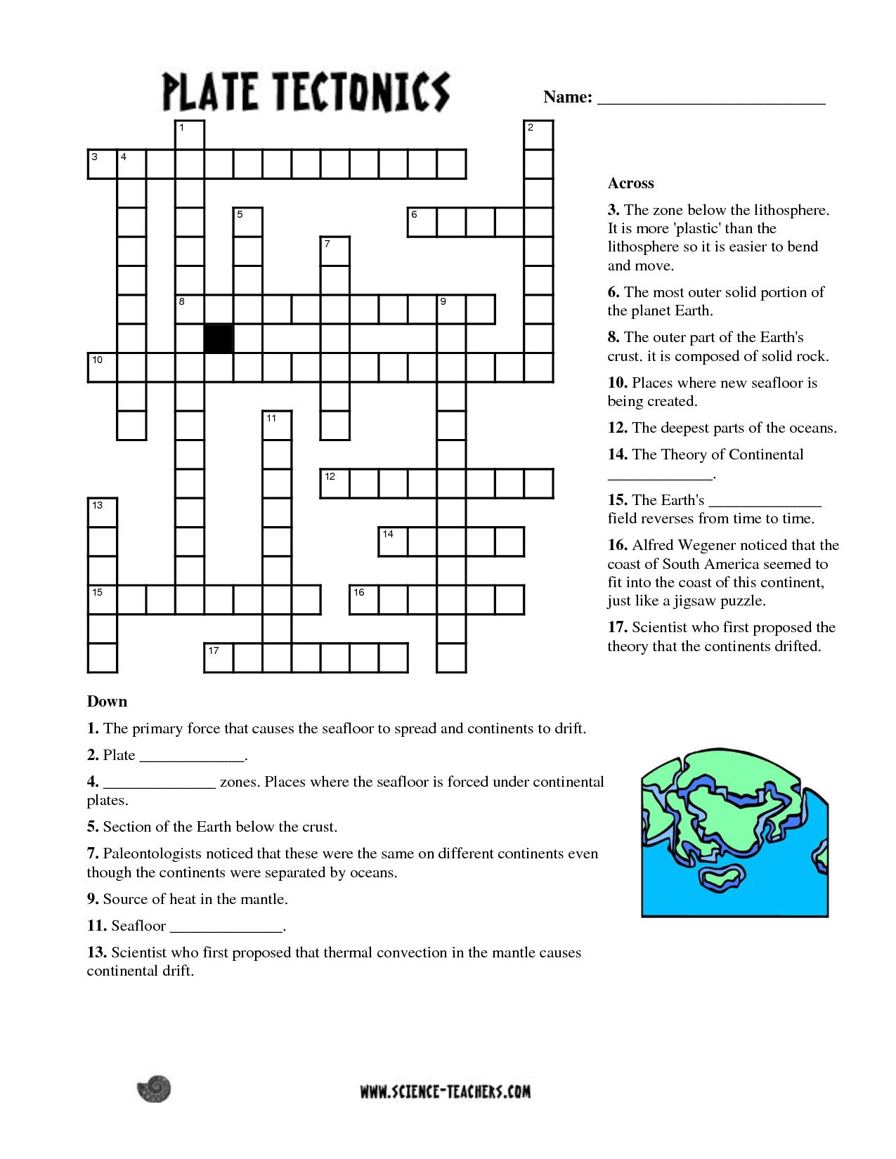 Printable Ocean Crossword Puzzles