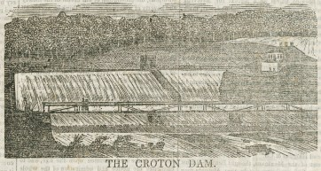 A view of what is now called the Old Croton Dam.