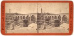 High Bridge from the North, showing Hotel, Stereoview from Robert N. Dennis collection, New York Public Library.