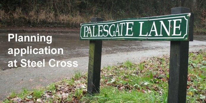 Palesgate Lane street sign in Crowborough