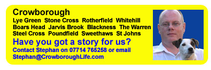 Have you got a story for us? Contact Stephan on 07714 765258. Crowborough and the surrounding villages of Blackness, Boars Head, Hurtis Hill, Jarvis Brook, Lye Green, Poundfield, Rotherfield, St Johns, Steel Cross, Steep, Stone Cross, Sweethaws, The Warren and Whitehill