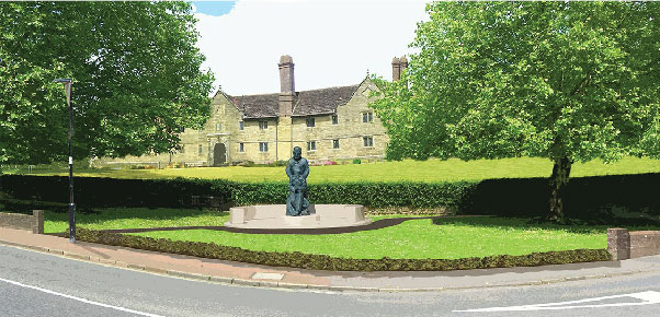 How the McIndoe Memorial will look outside Sackville College