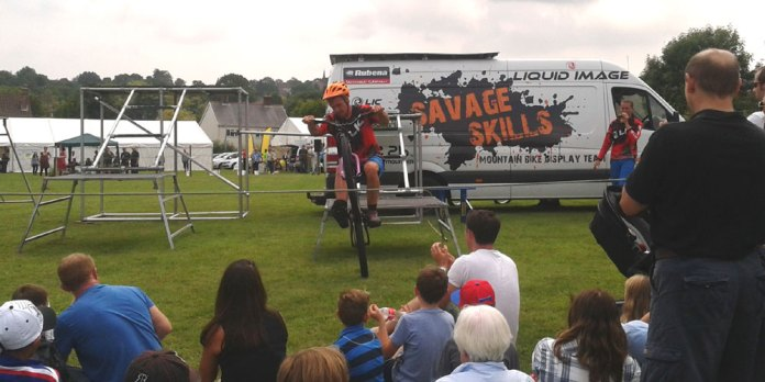Display of BMX Skills in the arena