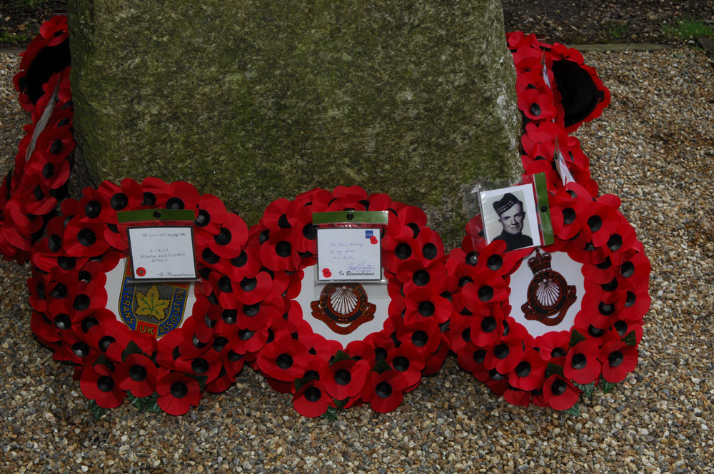 Some of the wreaths laid at the Service