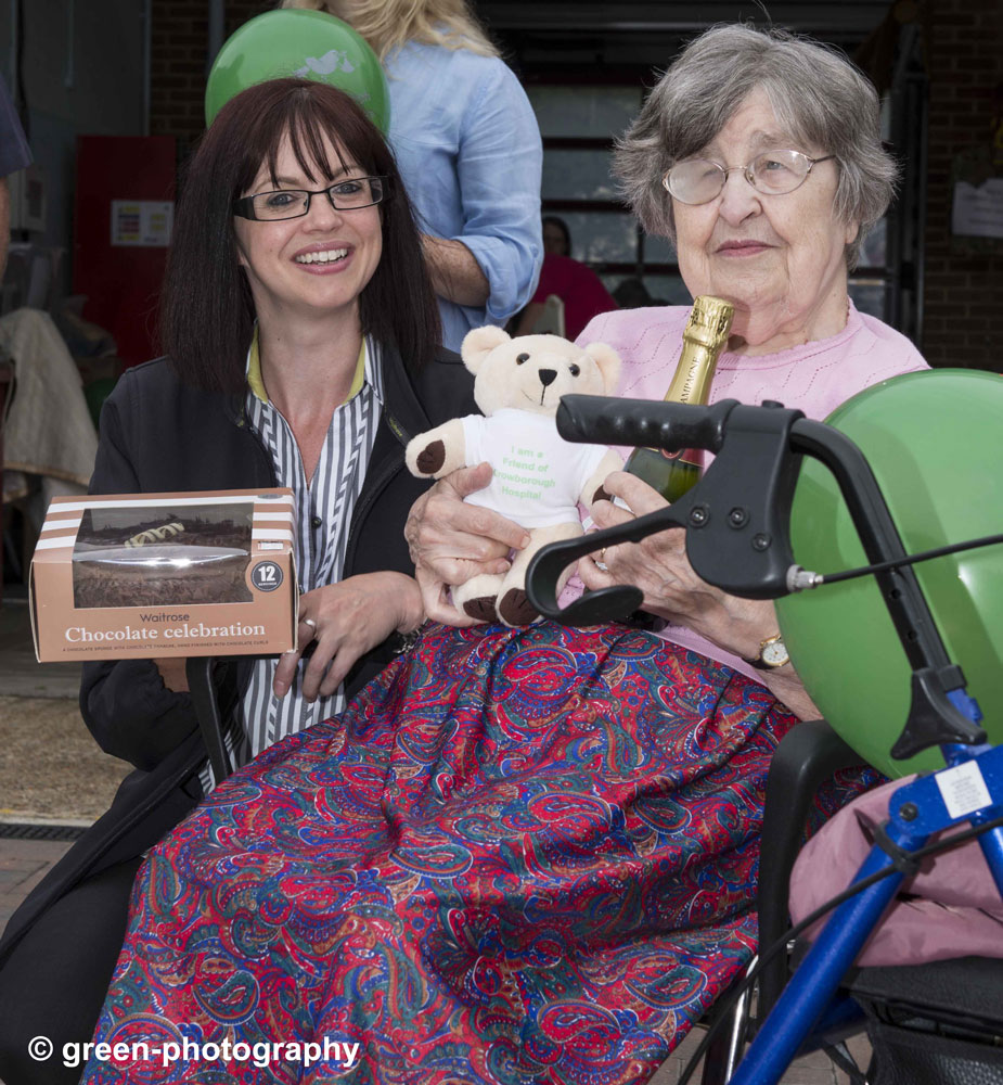 The oldest living person who was born at Crowborough Hospital – 86 year old Irene Crippen