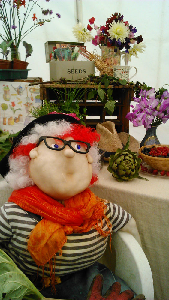 One of the displays in the Crowborough Horticultural Show