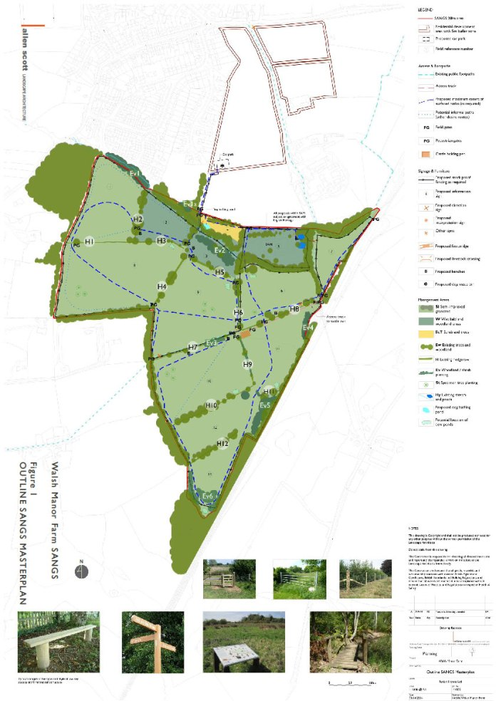 Map of Suitable Alternative Natural Greenspaces - recreactional space for local residents to use to deter travel to the Ashdown Forest