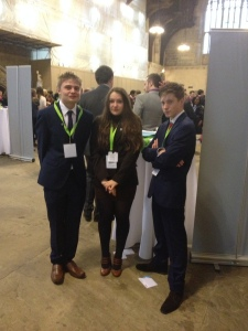 East Sussex Memebers of the Youth Parliament: From Left to Right - Harry Elphick, Charlotte Thomas and Paddy Stewart