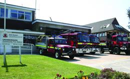 Fire appliances Crowborough Fire Station