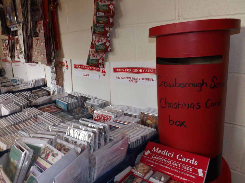 Scouts' Christmas Post Box at the United Church in Crowborough