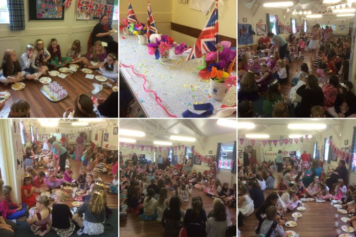 Guides and Brownies  Crowborough The Queen 90th Birthday