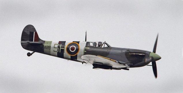 Spitfire taken over Crowborough Beacon Golf Course (Courtesy of Chris Coates)