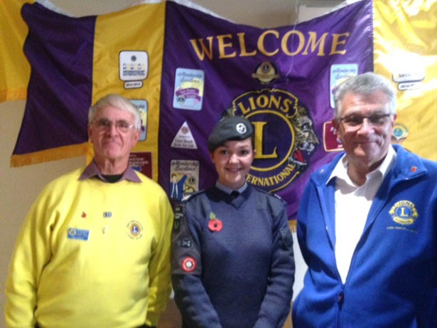 Crowborough Lions Club President Terry Mason (right) with Georgia and past President Bob Dubock (left)
