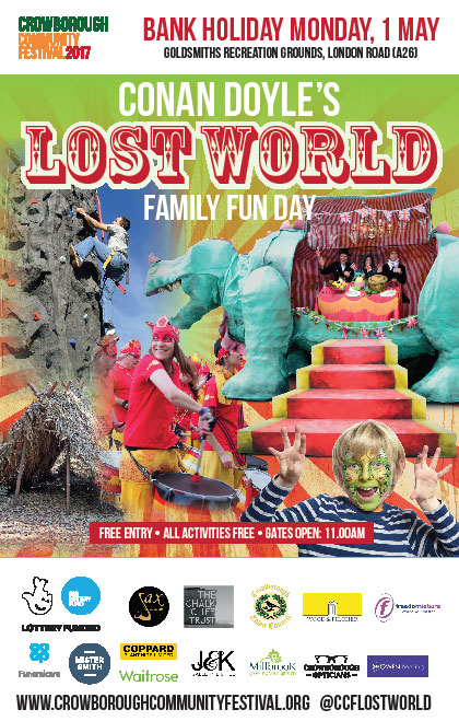 Conan Doyle's Lost World Family Fun Day 1st May 2017 Crowborough in East Sussex