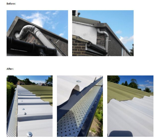 gutters at Crowborough Scout HQ in Crowborough