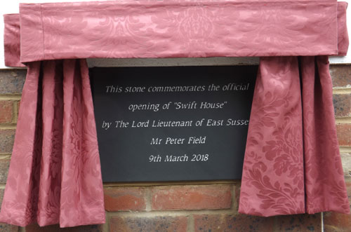 Commemoration plaque at Swift House