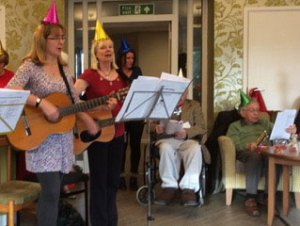 Xmas singing Ditch the Slippers