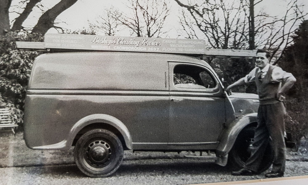 Ron Bishop with first van about 1963