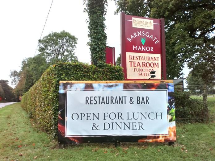 Barnsgate Manor: Restaurant & Bar Open for Lunch & Dinner