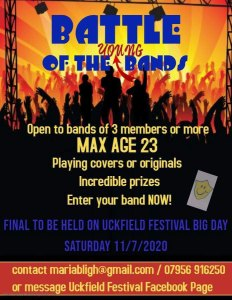 Battle of the YOUNG Bands Uckfield Festival 2020