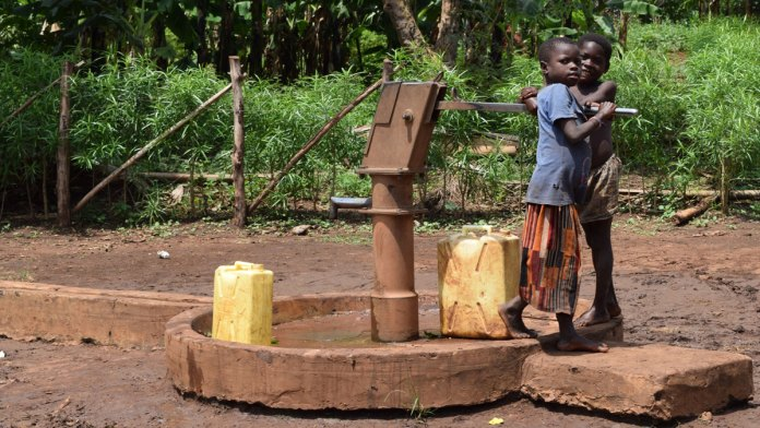 World in Need living waters children water pump