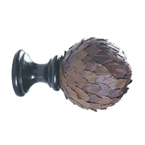 Crowder Designs Natural Elements Finial Collection | Leaf Ball Dark