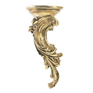 Crowder Designs Decorative Drapery Bracket Collection | Rococo Left