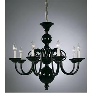 Crowder Designs Black Chandelier Collection | 8 Arm