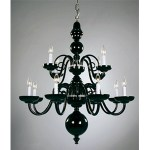 Crowder Designs Black Chandelier Collection | 12 Arm