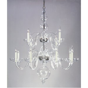 Crowder Designs Clear Chandelier Collection | 12 Arm