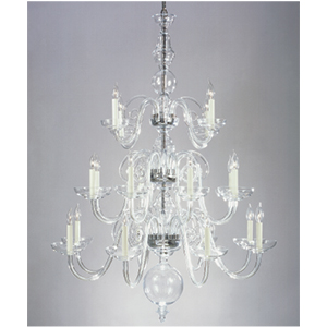 Crowder Designs Clear Chandelier Collection | 20 Arm
